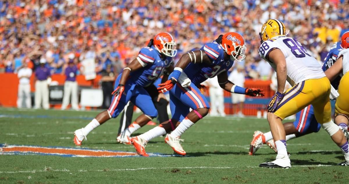 Florida Gator linebacker Lerentee McCray.