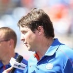 Will Muschamp speaks with the media following the Gator win over Kentucky.