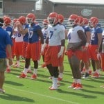 Ronald Powell at the first day of fall practice.