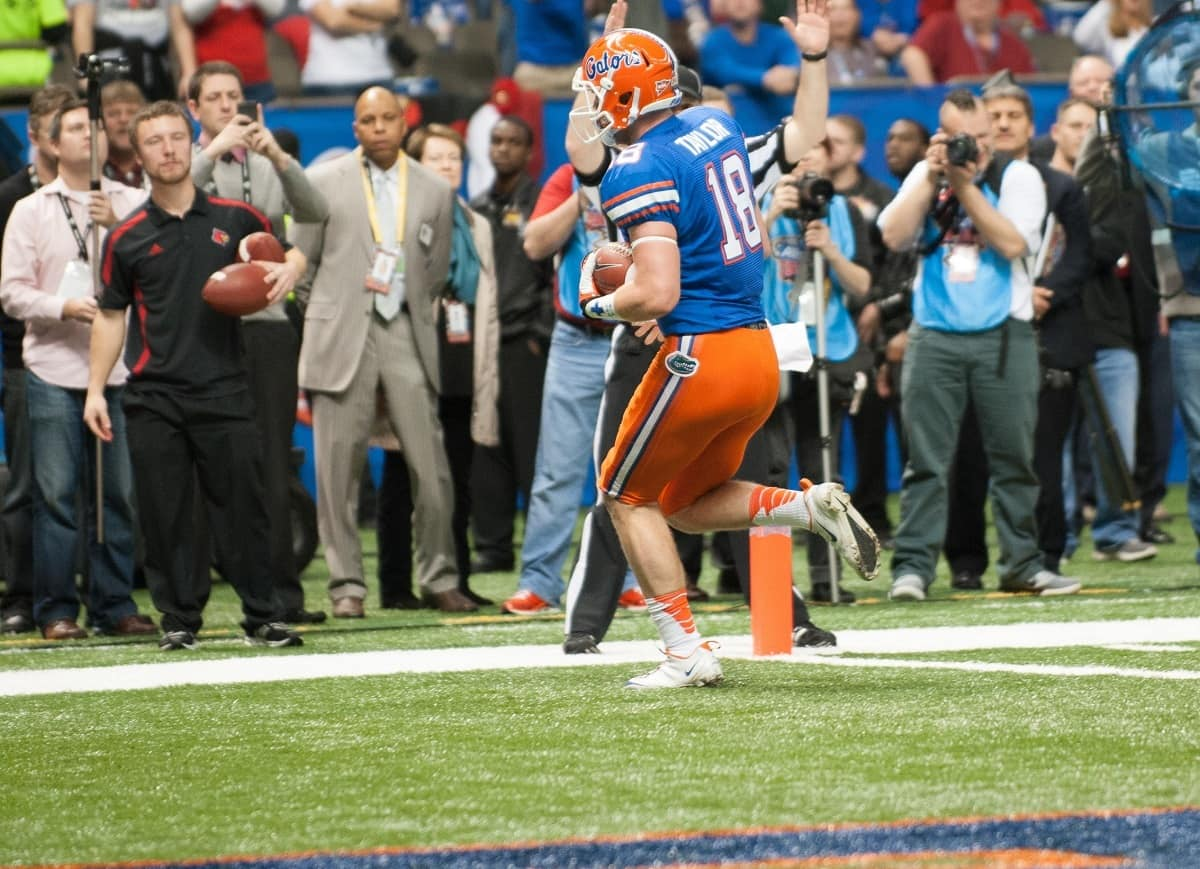 Kent Taylor is Florida's most effective offensive threat at tight end.