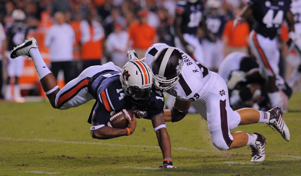 Auburn squeaked out their first SEC win since 2011 against Dan Mullen and Mississippi State on Saturday. Photo Credit: Shanna Lockwood-USA TODAY Sports