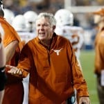 Texas head coach Mack Brown has come under heavy scrutiny after the Longhorns dropped to 1-2 on the year. Photo Credit: Chris Nicoll