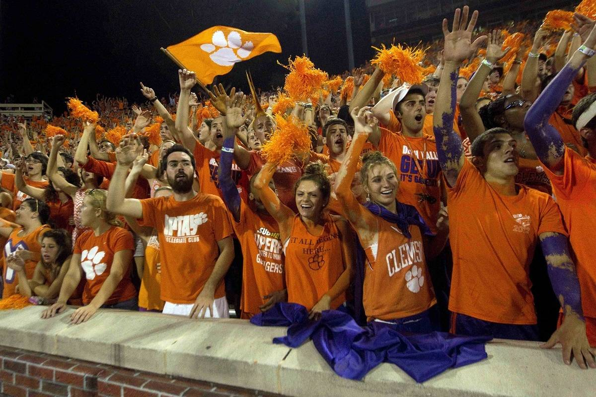 The Clemson Tigers hosted several Florida prospects at Clemson Memorial Stadium on Saturday. Photo Credit: Joshua S. Kelly-USA TODAY Sports