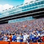 Gator fans cheer on  Gators vs Toledo. Gator Country photo by David Bowie.