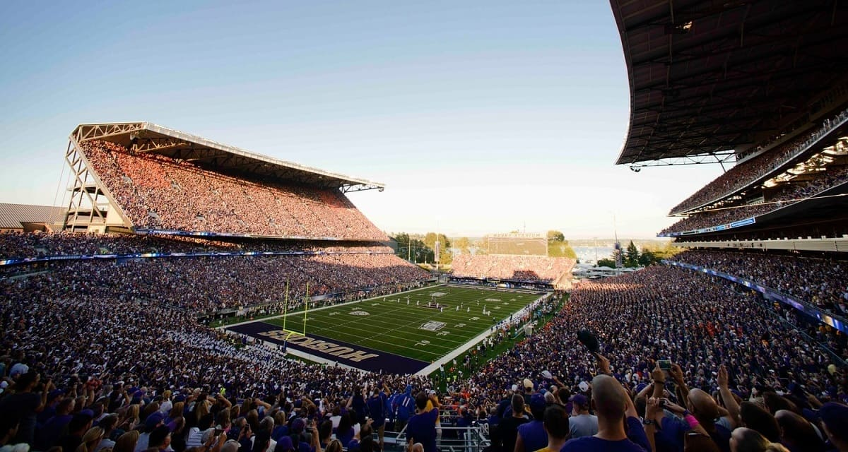 Washington University's newly renovated Husky Stadium is an impressive site. Photo Credit: Steven Bisig-USA TODAY Sports.
