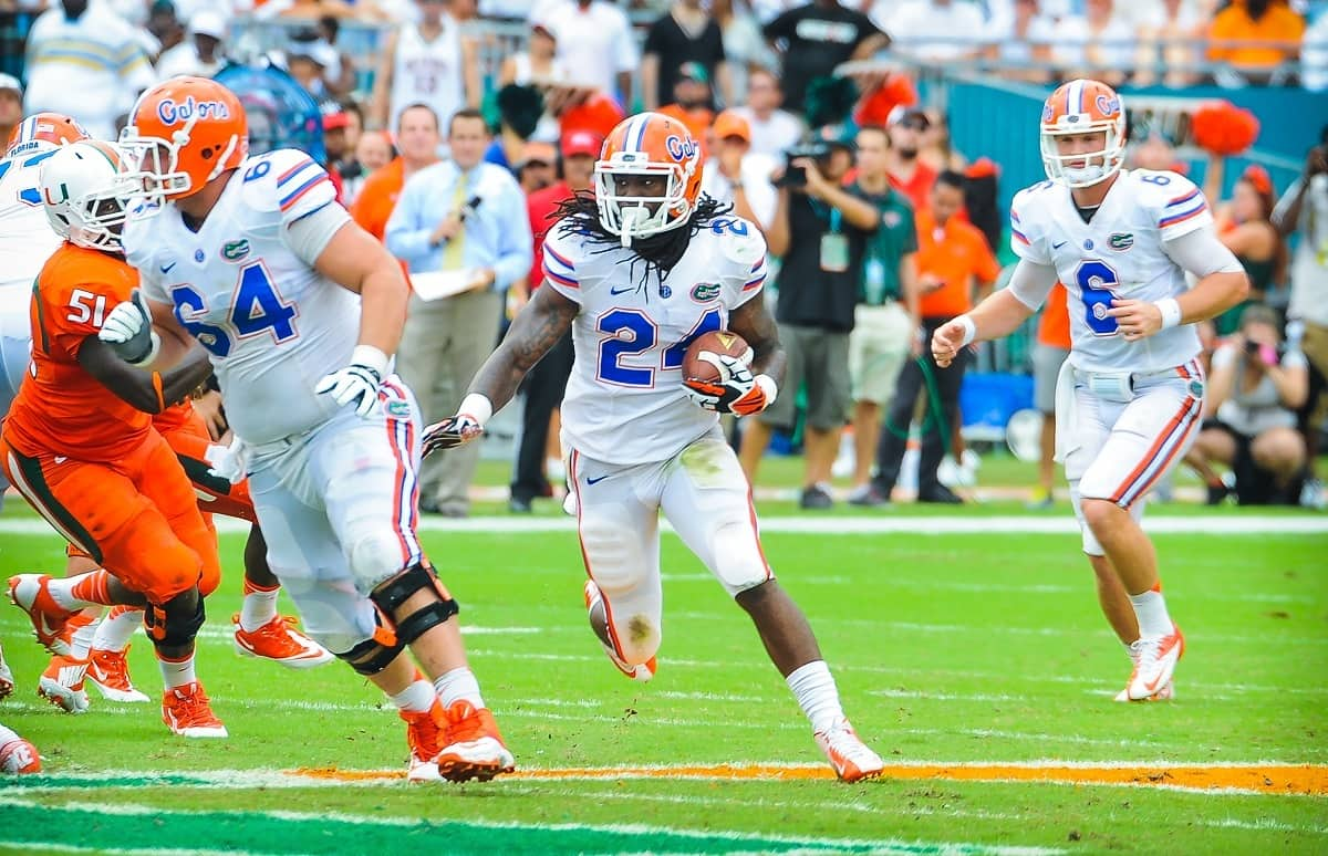 The official website of the Florida Gators football team featuring news schedules results rosters and more
