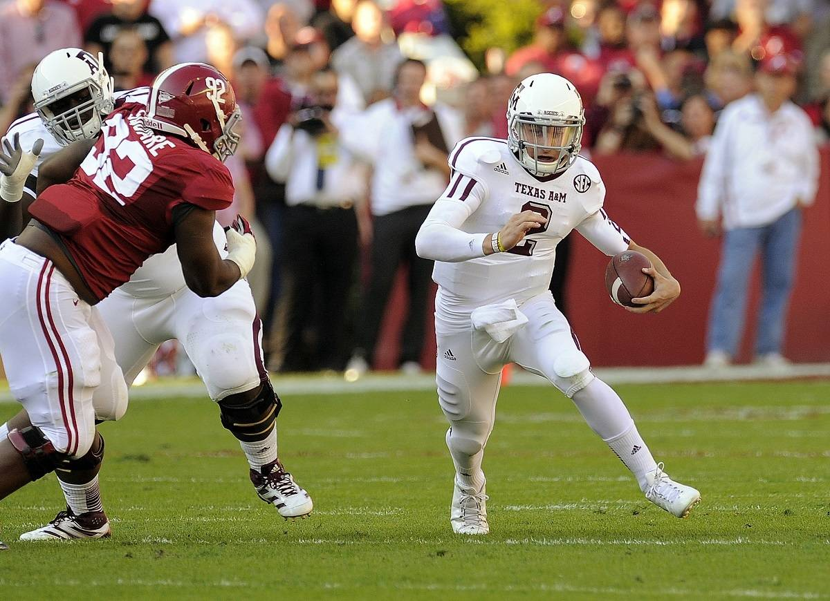Alabama will seek revenge on Johnny Manziel and Texas A&M in College Station this weekend. Photo Credit: John David Mercer-US PRESSWIRE