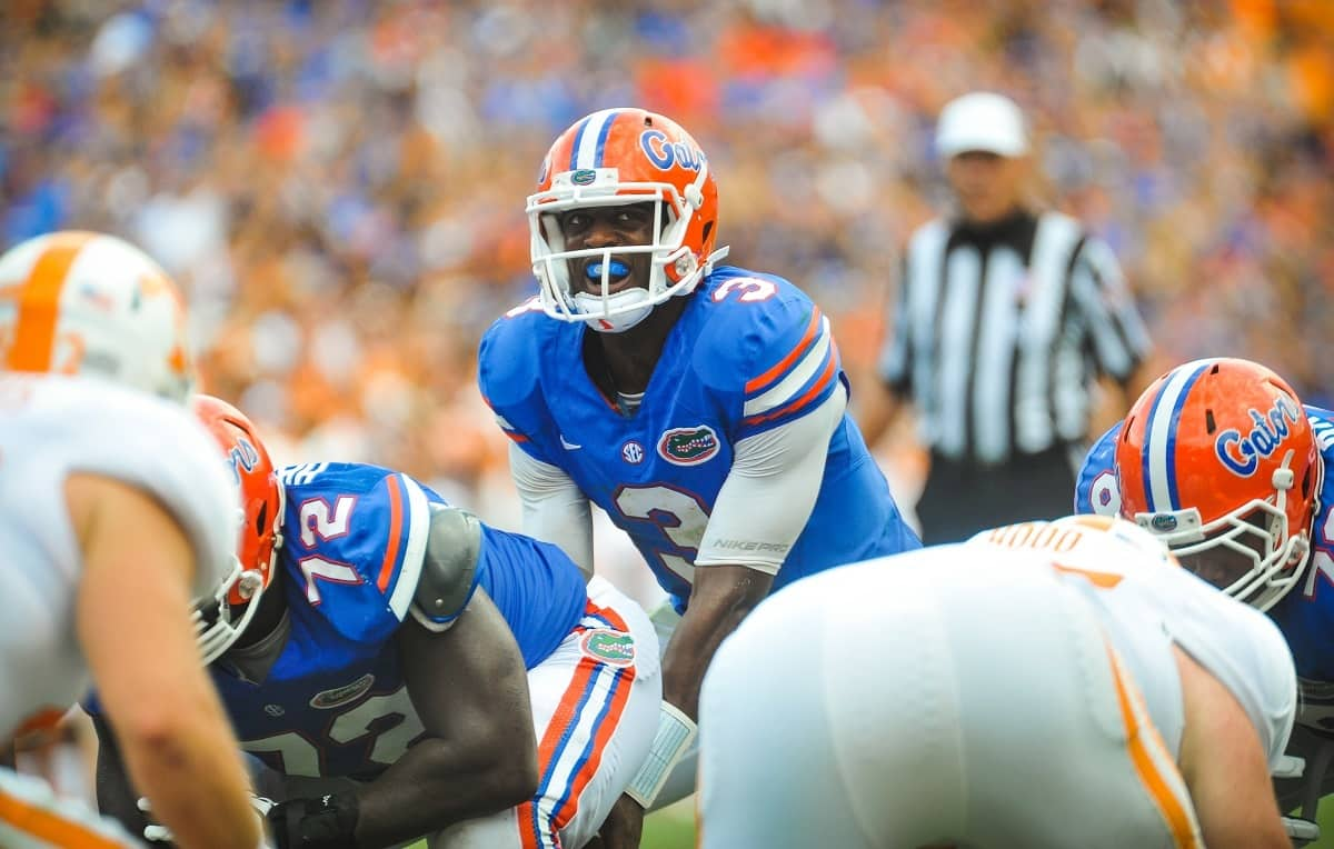Florida Gators Backup QB Tyler Murphy took over after Jeff Driskel's injury and lead the Gators to a win over Tennessee. Photo by David Bowie.