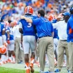 Tyler Murphy and Will Muschamp parted ways Sunday / Gator Country photo by David Bowie.