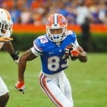 Florida Gators WR Solomon Patton runs after his reception. Photo courtesy of David Bowie.