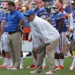 Brent Pease was let go by  Florida head coach Will Muschamp Sunday / Photo Credit: Kim Klement-US PRESSWIRE.