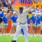 Gator Hall of Fame player Errict Rhett performs Mr. 2-Bits. Photo by David Bowie.