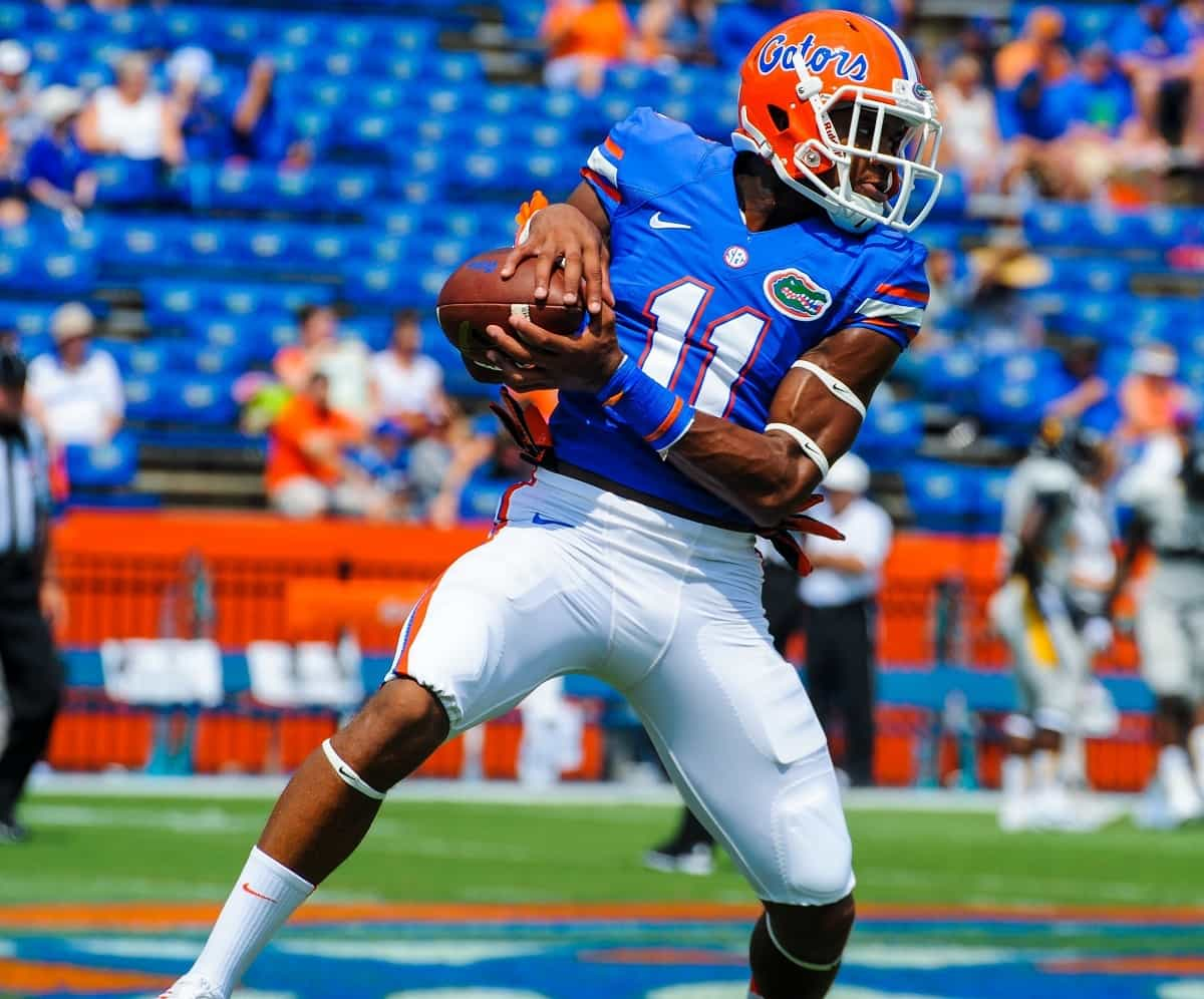 Can Demarcus Robinson become a consistent playmaker in the new offense? / Gator Country photo by David Bowie