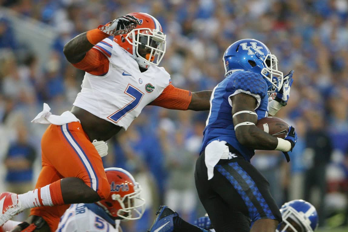 Ronald Powell has declared for the NFL Draft / Photo by Mark Zerof-USA TODAY Sports