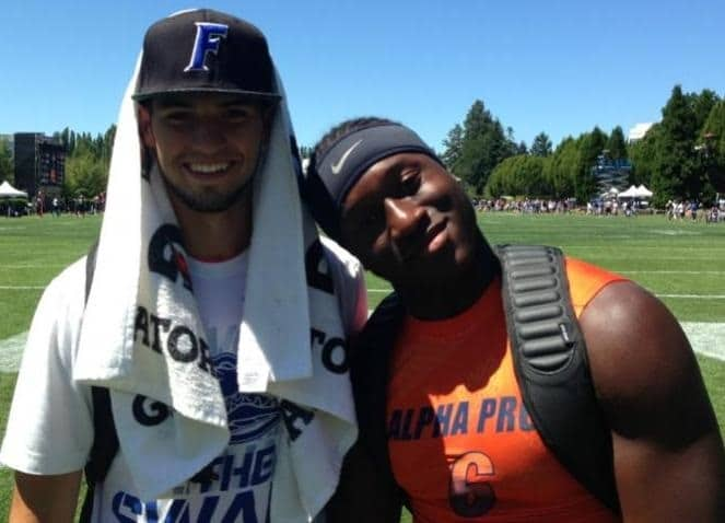 Early enrollees Will Grier and Duke Dawson.