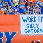 Fans show their support for the Florida Gators. / Gator Country photo by David Bowie
