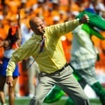 Danny Wuerffel was the celebrity Mr. Two Bits for the Florida-Arkansas game / Gator Country Photo by David Bowie
