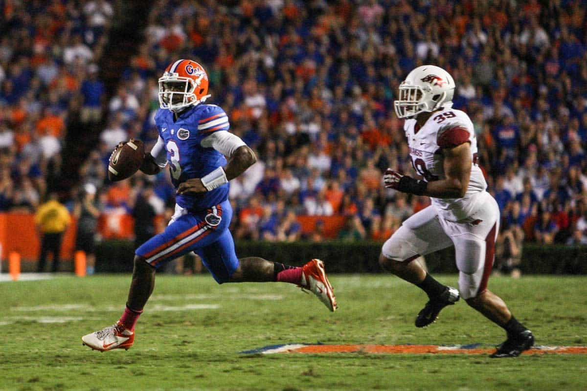 Will the new UF offensive scheme better utilize the mobility of Tyler Murphy (3)? / Photo: Rob Foldy-USA TODAY Sports