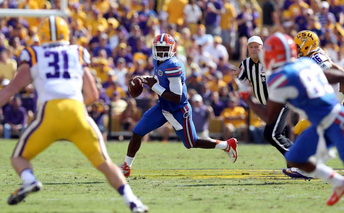 Will  Brent Pease cut Tyler Murphy loose on the read option against Vanderbilt? / Photo: Chuck Cook-USA TODAY Sports