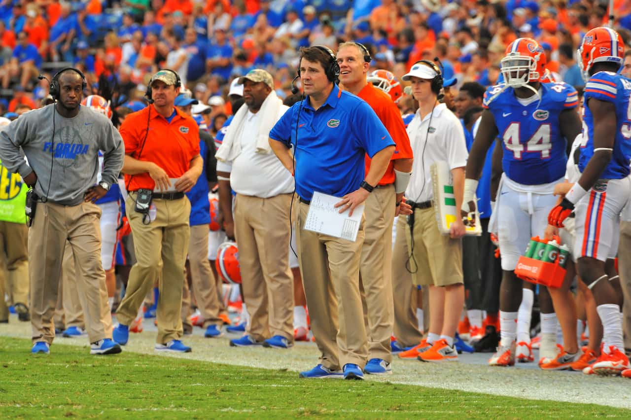 Will Muschamp's search for an offensive line coach will extend at least one more day.