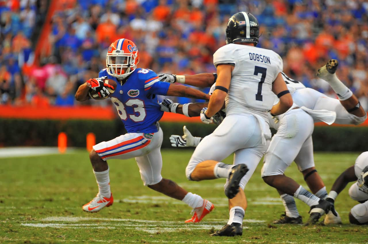 Solomon Patton was Florida's most productive offensive player under Brent Pease in 2013 / Gator Country Photo by David Bowie