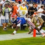 Tyler Murphy dives into the end zone in the fourth quarter against Georgia / Gator Country photo by David Bowie