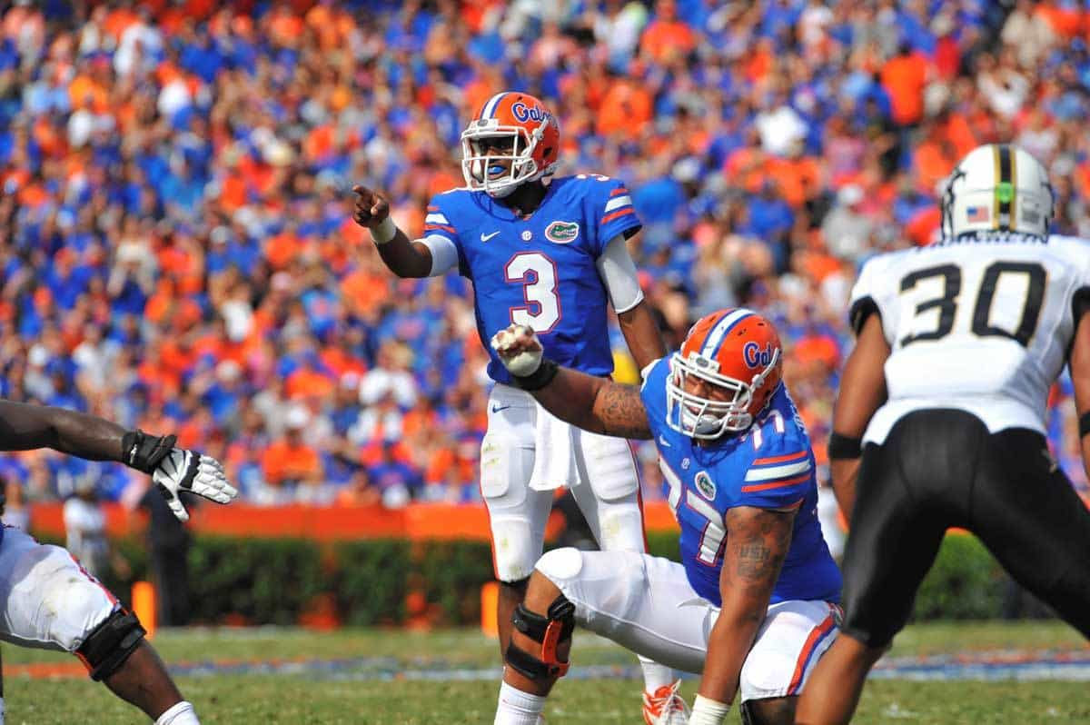 Ian Silberman (77) is one of six offensive players who is transferring out at the University of Florida / Gator Country Photo by David Bowie