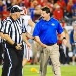 Will Muschamp defended his decision to lift three suspensions this week against Eastern Michigan / Photo by David Bowie