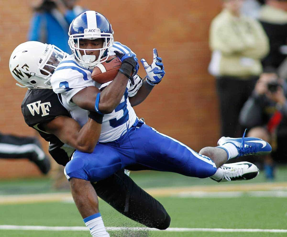 Jamison Crowder caught 186 passes in three years at Duke in Kurt Roper's offense / Photo: Ellen Ozier-USA TODAY Sports