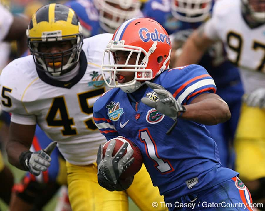 Florida and Michigan have played just two times (2002, 2007) in school history.