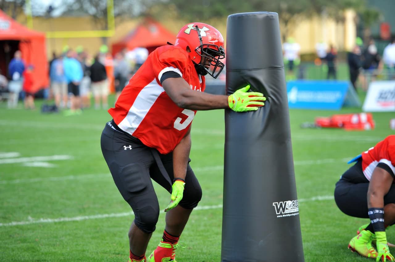 Thomas Holley at day three of the Under Armour All-American practice.