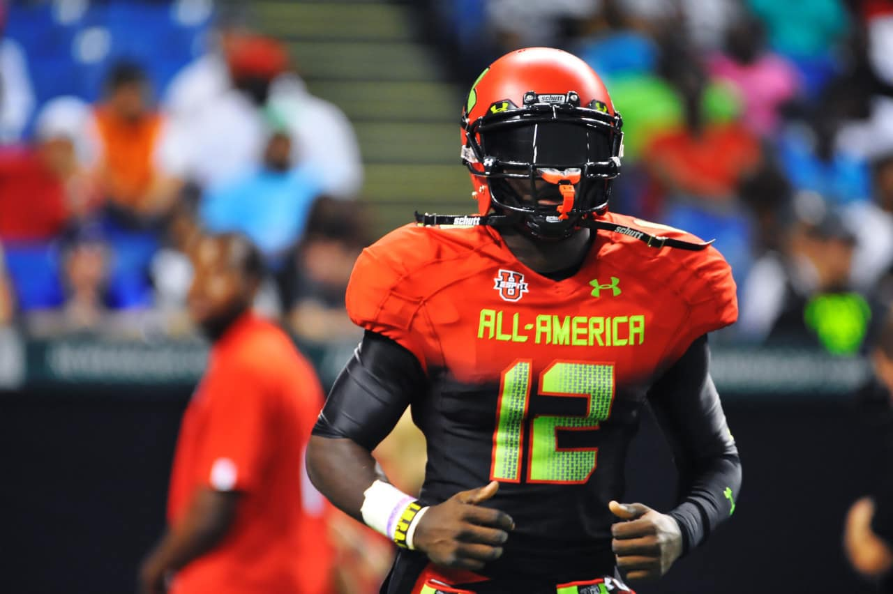 Chris Goodwin at the Under Armour All-American game.
