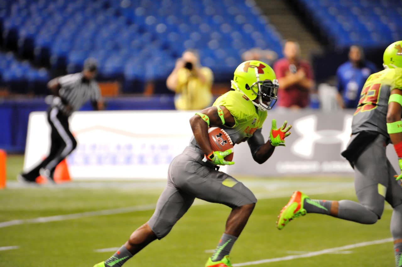 Isaiah McKenzie at the Under Armour All-American game.