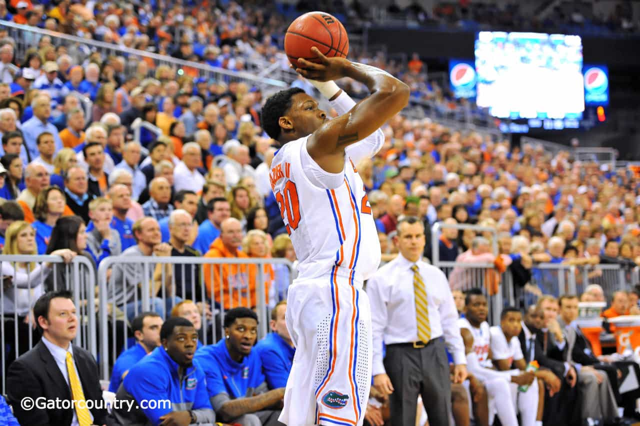 Florida's Michael Frazier has a devotion to working on his stroke / Gator Country Photo by David Bowie