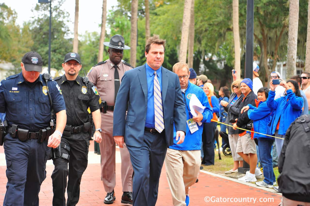 Will Muschamp introduced three new staff members on Monday.