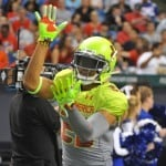 Quincy Wilson is introduced at the Under Armour All-American game.