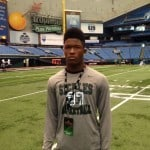 Ray-Ray McCloud at the Under Armour combine.