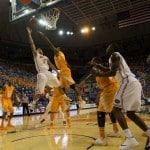 Scottie Wilbekin drives for two of his 13 points in Florida's 67-41 win over Tennessee / Photo: Rob Foldy-USA TODAY Sports