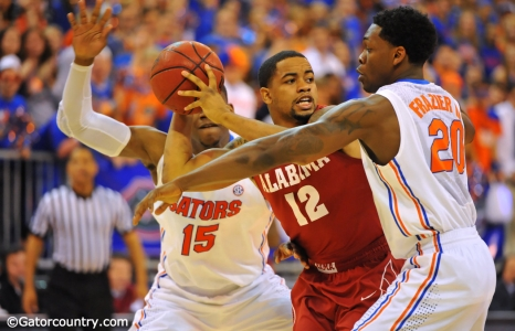Gators slug out win over Bama