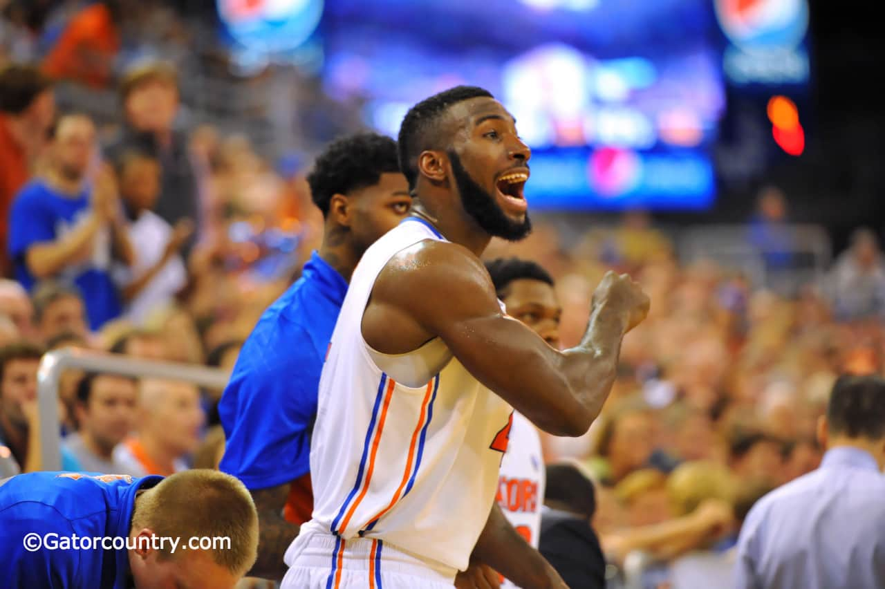 Florida's win over Missouri gave Patric Young something to shout about / Gator Country Photo by David Bowie