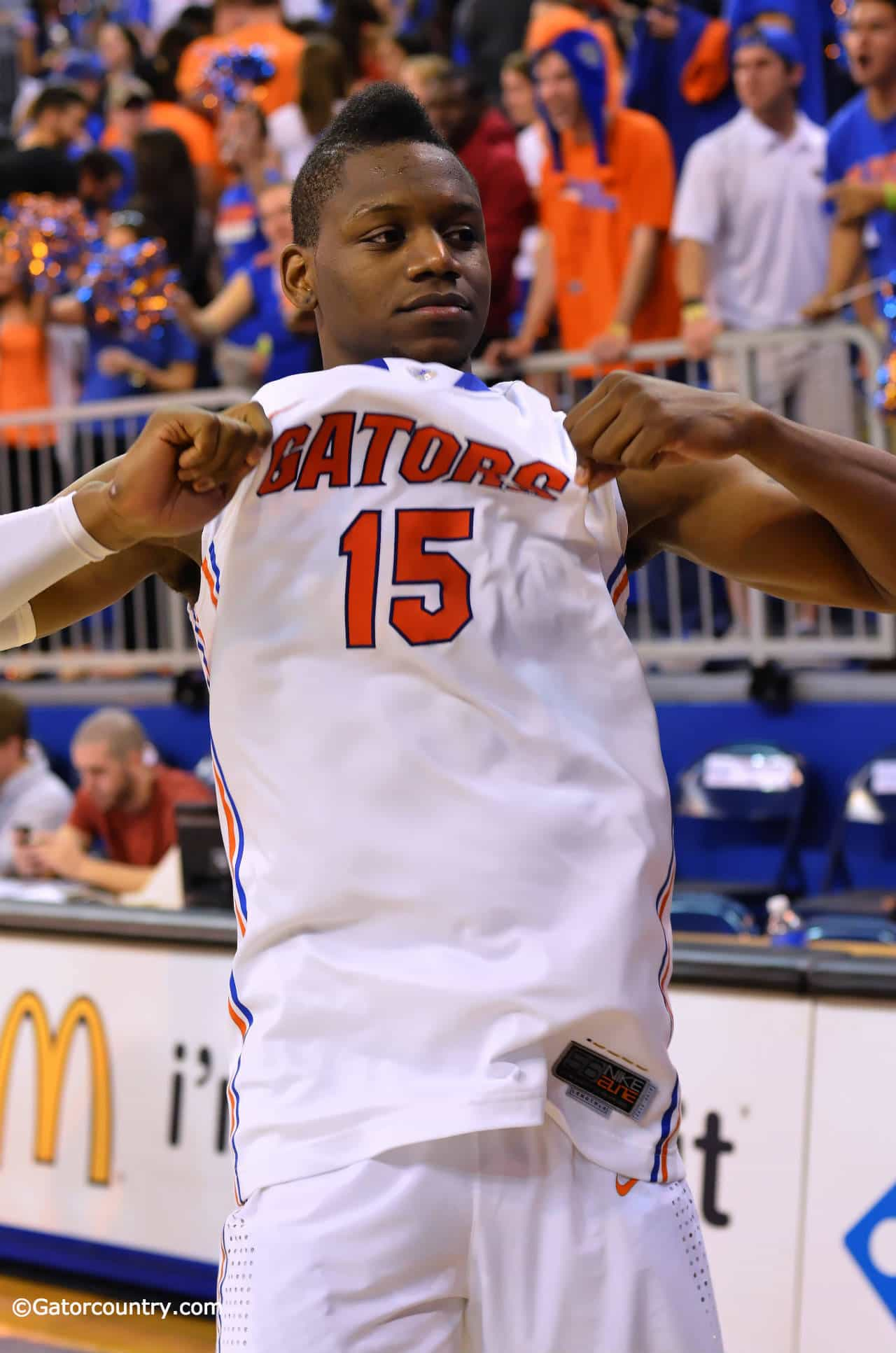 Will Yeguete and Florida's seniors finally got a win at Rupp Arena Saturday night / Gator Country File Photo by David Bowie