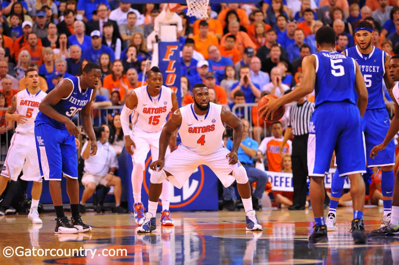 The Gators can win the SEC Tournament if they can beat Kentucky for a third time this season Sunday afternoon / Gator Country Photo by David Bowie