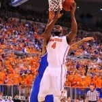 Patric Young (4) was announced as SEC Defensive Player of the Year Tuesday / Gator Country Photo by David Bowie.
