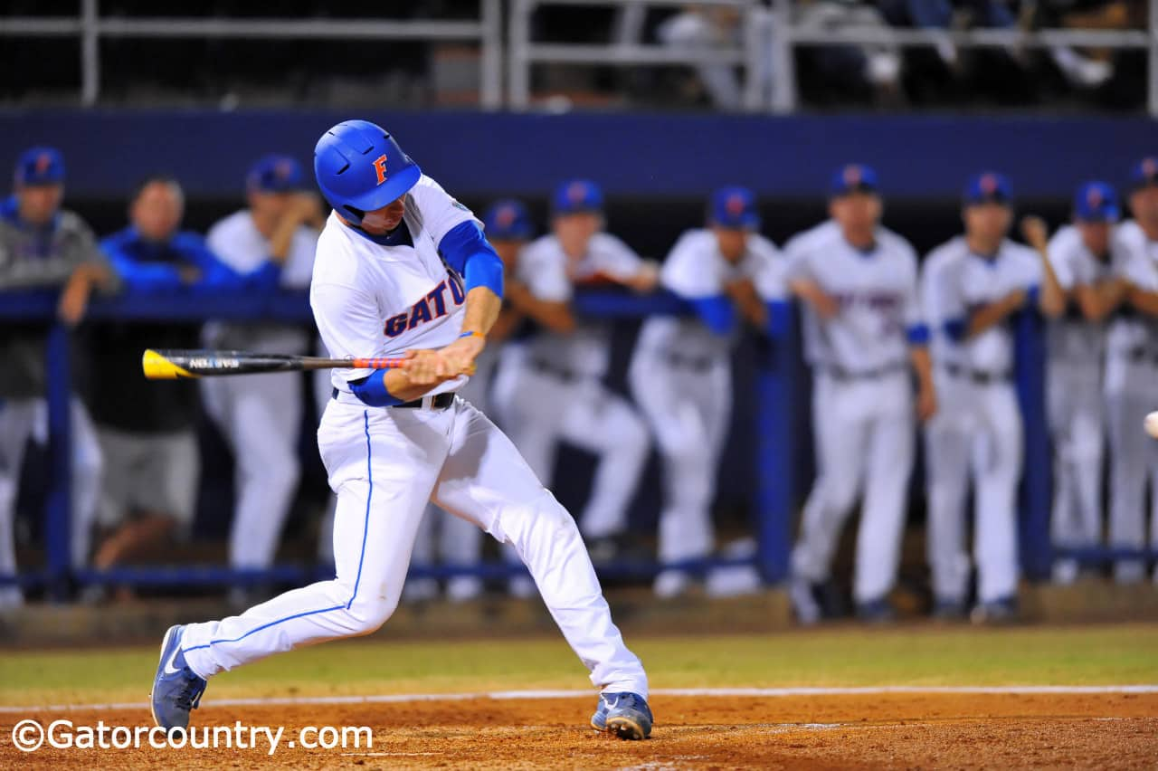 Pete Alonso's first career homerun in the first inning was the only run the Gators needed Saturday night.
