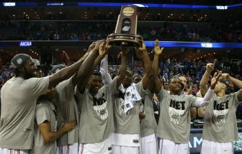 Gators celebrate Elite Eight victory