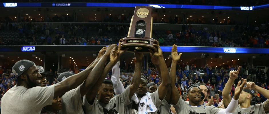 Gators celebrate Elite Eight victory
