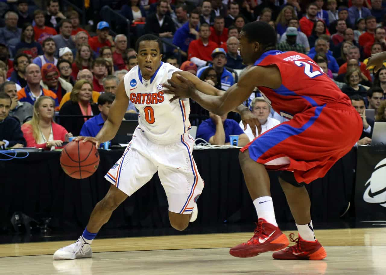 Kasey Hill (0) will be one of the keys to a great 2014-15 season for the Gators / Photo by: Spruce Derden-USA TODAY Sports