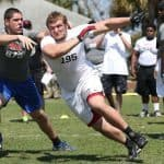 Andrew Ivie competes at the Nike NFTC in Orlando. Photo provided by Student Sports.