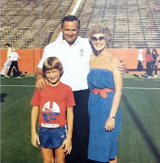 Charley, Ward and Carrick Pell, circa 1979