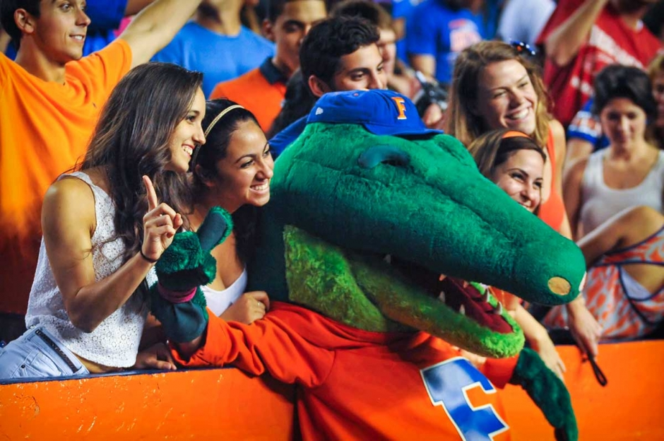Albert the Alligator and Florida Football Fans at The Swamp - Gators vs Arkansas - October 5, 2013